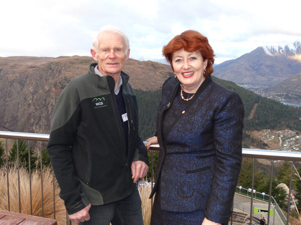 Changing skyline: Conservation Minister Maggie Barry with Willsman last year
